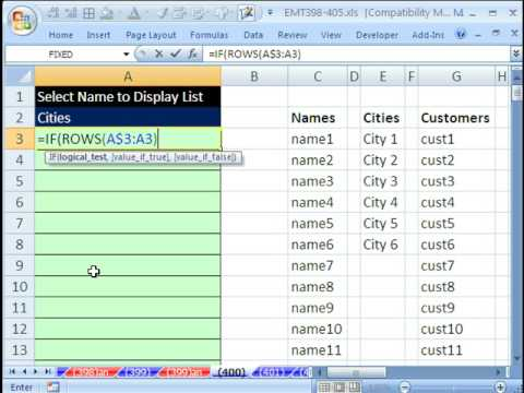 Excel Magic Trick 400: Show List of Values In Cells After Using Data Validation Drop-Down