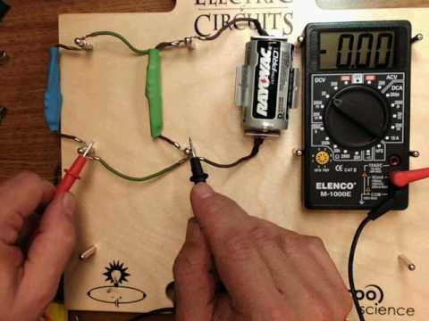 Using a multimeter in a parallel circuit
