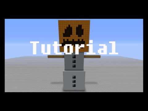 HOW TO BUILD A SNOW GOLEM IN MINECRAFT PC!!