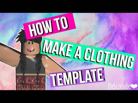 How to Make a Custom Clothing Template for Roblox ❤