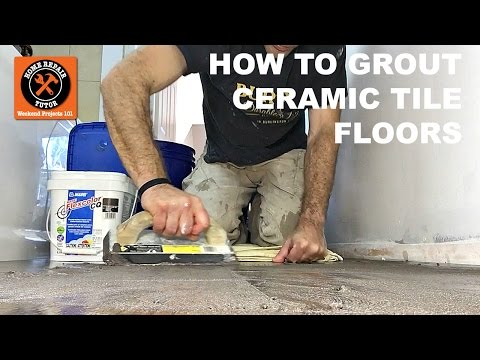 How to Grout Ceramic Tile Bathroom Floors with Mapei Flexcolor CQ (Step-by-Step)