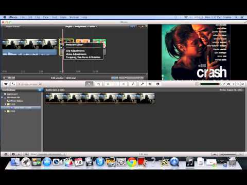 iMovie 9 Basics Tutorial #7 Changing Picture Duration Time