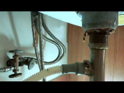 kitchen sink drain leaking badly