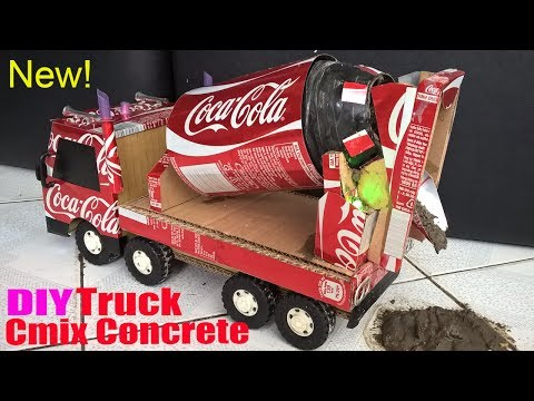 Concrete Mix Truck DIY - A masterpiece of Coca Cola! How to make a Concrete Mix Truck?