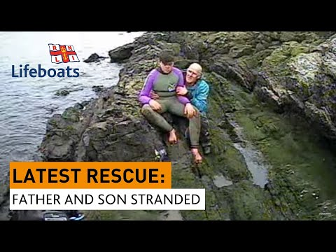 Moelfre lifeboat crew locate and rescue missing father and son