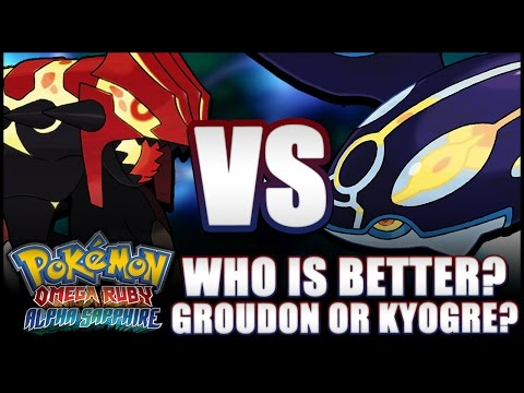 Pokémon Omega Ruby and Alpha Sapphire - Who is better? Groudon or Kyogre? In-depth comparison!