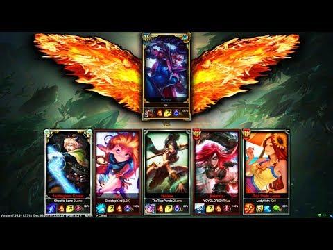 One Challenger Scripter vs. 5 Silver Players (1v5) 3 PENTAKILLS?!? - League of Legends
