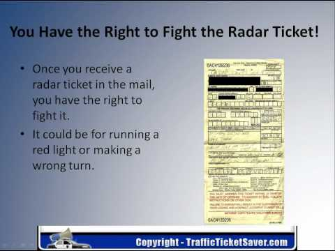 How To Fight A Radar Ticket