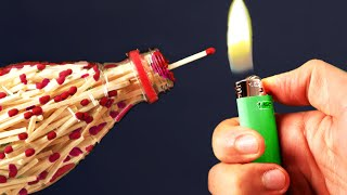 Amazing Match bottle DIY Experiments