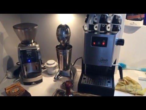Mahlkoenig Vario 2016 + Gaggia Classic Espresso Machine