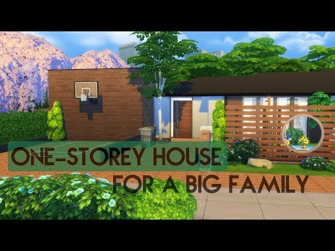 Sims 4 | House Building | One-storey House (for a big family)