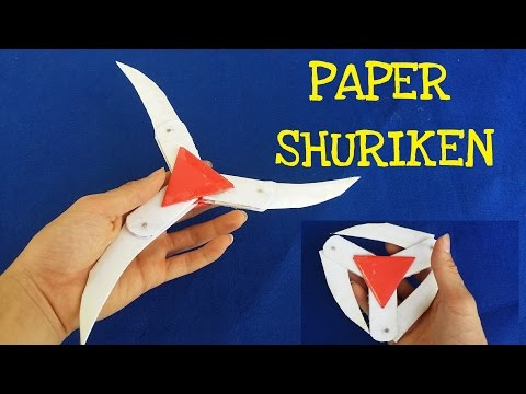 How to make a Paper Ninja Star (Shuriken) | Cyclone Tri-blade Thrower