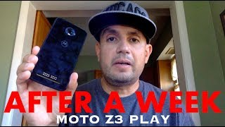 Moto Z3 Play One Week Review Truly Enjoyable!