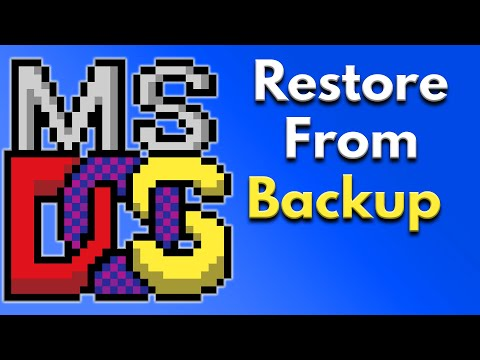 command prompt restore and backup strategy best practices (restore command) -  ms dos commands