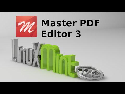 Install Master PDF Editor 3 (to create or edit PDF file) in Linux Mint / Ubuntu