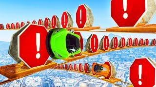 99% IMPOSSIBLE STOP SIGN PARKOUR! - GTA 5 Funny Moments