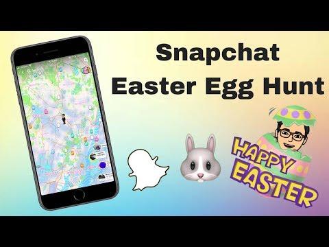 Snapchat: Easter Egg Hunt on Snap Map🥚🐰