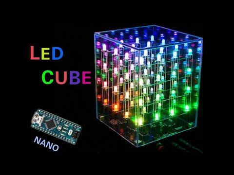 How to make LED Cube Arduino nano, Make multi color led cube at home