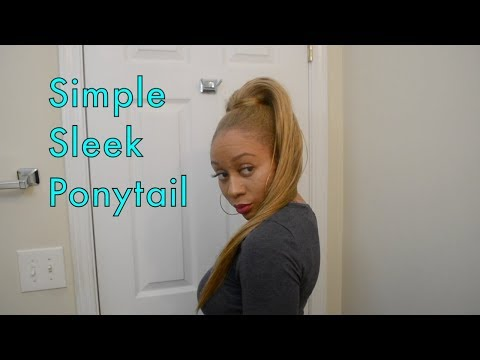 Curls, Coils & Kinks: Simple Sleek Ponytail feat. Top Hair