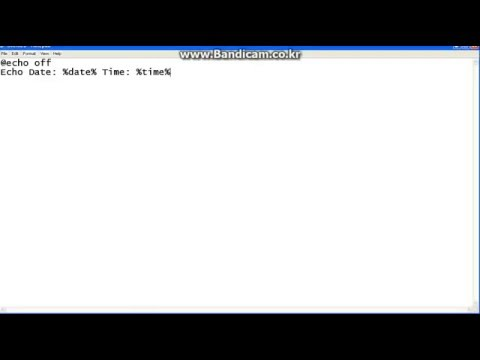 how to make a clock in notepad (very easy)