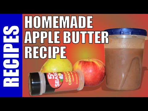 How to Make Apple Butter, Recipe