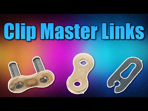 How to install a motorcycle clip master link chain properly