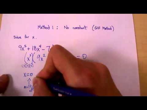 Polynomial Factoring 1: GCF Method