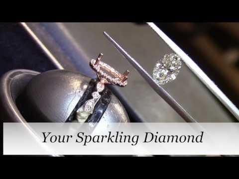 MAKING A DIAMOND ENGAGEMENT RING | Raechel's Oval Cut Custom Engagement Ring | Vanessa Nicole Jewels