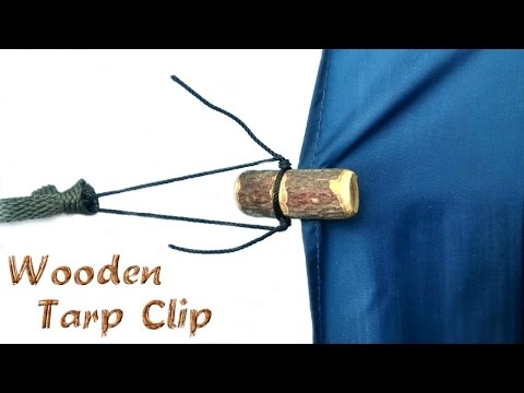 Make your own Wooden Tarp Clips using natural resources - a Bushcraft wood carving skill to remember