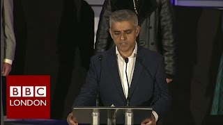 Sadiq Khan - Full mayoral acceptance speech - BBC London News