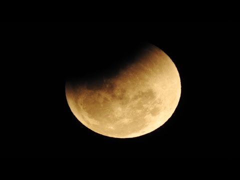 Rare Super Blue Blood Moon - 2018 - A camera recorded video
