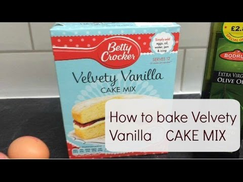 Vanilla velvet cake mix tutorial