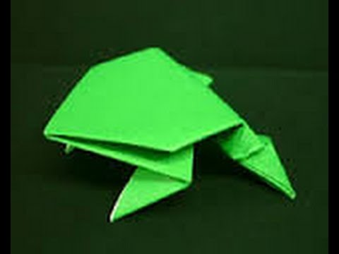 How to Make an Origami Frog that Jumps! - Origami (Easy)