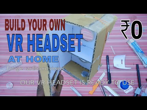 ₹0 VIRTUAL REALITY EXPERIENCE ||DIY BUILD YOUR OWN VR HEADSET AT HOME || GOOGLE CARDBOARD VR HEADSET