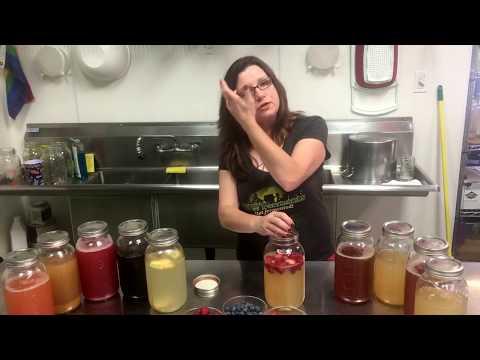Water kefir second fermentation