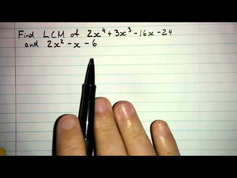 3.4.5 - Least Common Multiple of Two Polynomials