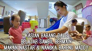 VLOG MAKAN NASTAR & NANGKA BARENG MADDY | BELAJAR SAMBIL BERMAIN | KASIAN BABANG DAVE