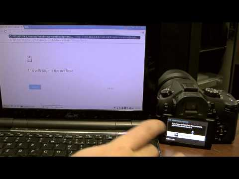 Wifi remote control of lumix camera via PC/Web Browser