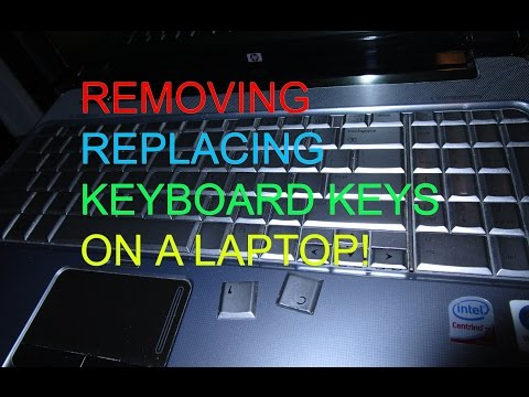 HP Notebook Laptop REMOVING Replacing KEYBOARD KEYS  How to?