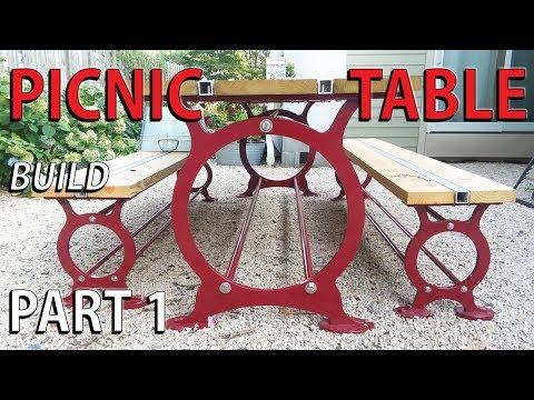 Steel Picnic Table - PART 1 NOT so DIY patio garden table