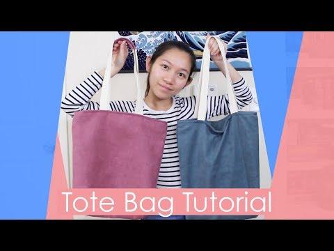 Tote Bag Tutorial - Interior Pocket and Recessed Zipper   Sannari