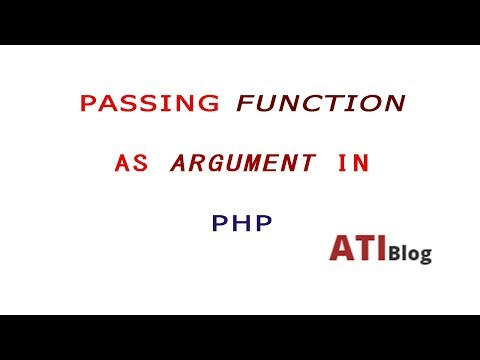Pass a function as argument | Dynamically calling a Function in PHP | ATIBlog | PHP
