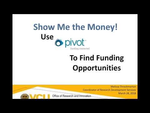 Show Me the Money: Use Pivot to Find Funding Opportunities