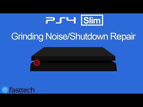 PS4 Slim Grinding Noise Then Turns Off Fix / Repair