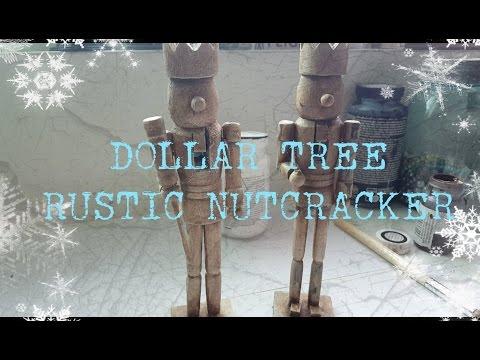 DOLLAR TREE  RUSTIC NUTCRACKER