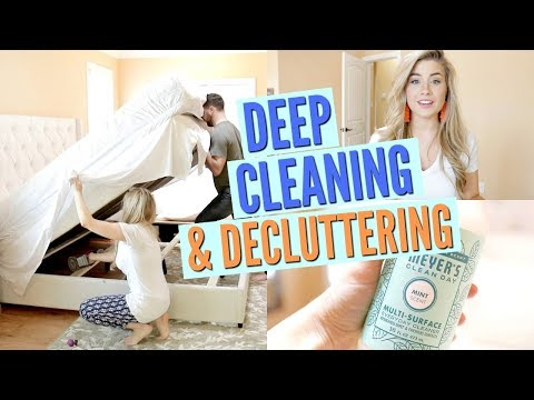 HOW TO DEEP CLEAN AND DECLUTTER MASTER BEDROOM | ULTIMATE CLEAN WITH ME | Love Meg