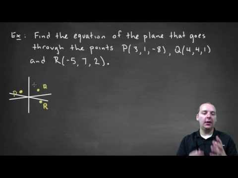 Equation of a Plane Given 3 Points - Example 2, medium