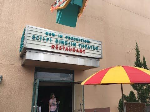 Sci-Fi Dine-In Theater Restaurant at Walt Disney World Vlog