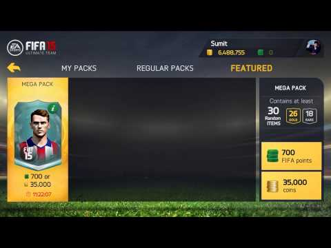FIFA 15 Ultimate Team : 35K MEGA PACK OPENING (Android)