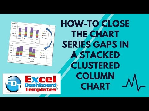 How-to Close the Chart Series Gaps in an Excel Stacked Clustered Column Chart